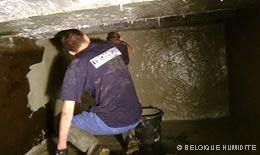 Travaux de cuvelage cave murs enterrés Charleroi Mons Namur Nivelles La Louvière